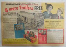 Johnson's Auto Wax Car Polish Ad: Fibber McGee and Molly! 1937 11 x 15 inch