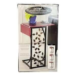 Gramercy Expandable 2 Leaf Metal Table with hammered metal leaves