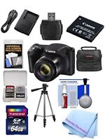 Canon Powershot SX420 IS 20 MP Wi-Fi Digital Camera with 42x Zoom (Black) BUNDLE