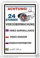 Schild,video-überwachung,videoüberwacht,video,Kamera,Warnschild, Vi79