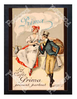 Historic Cafe Prima in France 1900s Advertising Postcard