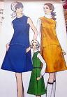 LOVELY VTG 1960s DRESS VOGUE Sewing Pattern 8/31.5 FF