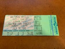 1996 Baltimore Orioles v New York Yankees Baseball Ticket Yankees Sweep