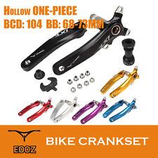 Bicycle Crankset BCD 104 MTB Mountain Bike Bicycle Crank BB Bottom Bracket Set