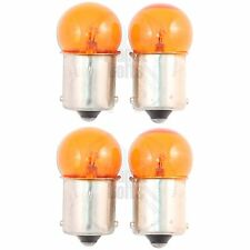 4x Amber Small Globe Bulbs 1156 BA15S 15mm Base Lamp 12v 23W Turn Signal Light