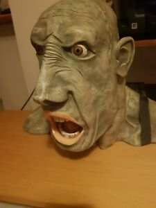 Peter Mook Signed Grotesque Head Gobsmacked Resin Sculpture - Extremely Rare
