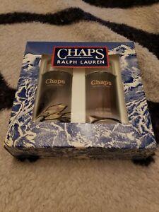Vintage CHAPS by RALPH LAUREN set COLOGNE 1 oz + AFTER SHAVE 1 oz 1998
