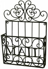French Provincial Wrought Iron Mail Card Holder Basket Rack Home Decor