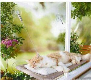 Pet Kitty High Hammock Window Cushion Bed Hanging Shelf Cat Perch Seat