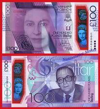 GIBILTERRA 100 Pounds sterline 2015 2017 Commemorativa Polymer Pick NEW SC/UNC