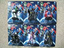 "DC COMICS FIGURES - SIX DIFFERENT PLASTIC 2.5"" ITEMS - (BATMAN, CAKE DECORATION)"