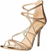 $160 size 10 Imagine Vince Camuto Ranee Champagne Strappy Heels Womens Sandals