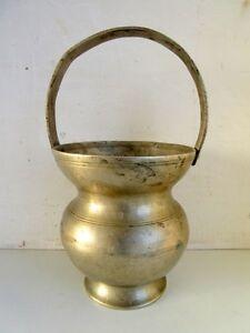 Vintage Old Rare Brass Hand Carved Unique Hindu Saint Holy Water Pot Kamandal