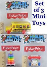 World's Smallest Fisher- School Bus Toy Miniature Doll Mini Little People