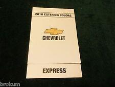 MINT 2010 CHEVROLET EXTERIOR PAINT COLORS EXPRESS NEW (BOX 712)