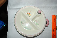 Vintage Ceramic  Baby Dish Food Warmer Divided LITTLE BO PEEP