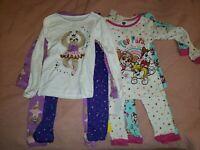 8pcs Pajamas PJ Set Lot x2   Girls Size 4T  //Paw patrol