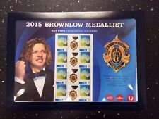 2015 Brownlow Medallist Stamps Pack Stand Auspost Issue