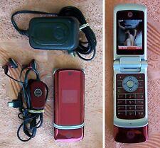 MOTOROLA MOTO KRZR K1 Red Flip Mobile Phone GOOD CONDITION (no StarTac v v3 v66)