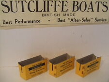 Lot de 3 Sutcliffe bateaux carte sous-marin Stands Unda Wunda/Seawolf & Nautilus