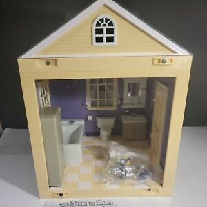 Jazwares BATHROOM Room by Room Dollhouse with New Accessories