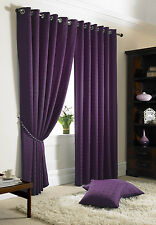 Madison Curtains Eyelet Top, Lined Curtains, Tie-Backs Included, 11 Fab Colours