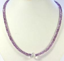 Amatista Collar De Piedras Preciosas Facetadas Púrpura