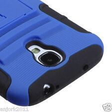 Samsung Galaxy S4 Hybrid Armor Case Skin Cover w/ Stand AA Blue Black