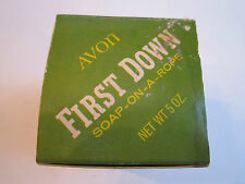 VINTAGE AVON FIRST DOWN - SOAP ON A ROPE IN THE BOX - TUB RH-5