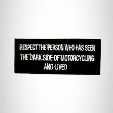 RESPECT THE PERSON Iron on Small Patch for Biker Vest SB923