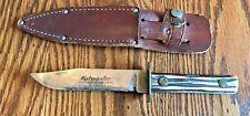 Vintage 1950s Kutmaster Utica NY USA Fixed Blade Hunting Knife w Leather Sheath