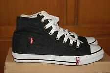 Mens Black Denim Canvas Upper Levis Equipment Pocket Shoes Sz 10