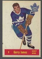 1957-58 Parkhurst Toronto Maple Leafs Hockey Card #T8 Gerry James RC
