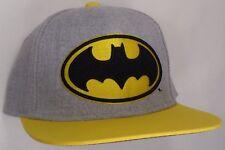 Hat Cap Licensed DC Comics Batman Logo Heathered Yellow Flat Bill CC