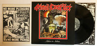 Final Conflict - Ashes To Ashes - 1987 US 1st Press + Book (NM) Ultrasonic Clean