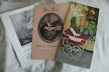 Silver Cross Dolls pram Catalogues 1959 1961 1963; Copies from archive originals