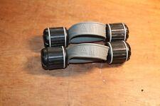Pair of 2.8 LB Black Grey Neoprene Hand Weight Exercise Keys Fitness