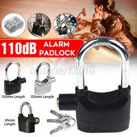 Long 110db Alarm Padlock High Security Siren Lock Motorbike Anti-Theft Home Door