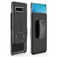 For Samsung Galaxy S10 - Case Belt Clip Holster Swivel Cover Kickstand Armor