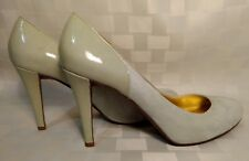 J.Crew Harper Light Mint/Sea Green Suede Patent Leather Heels Women's Size 7.5