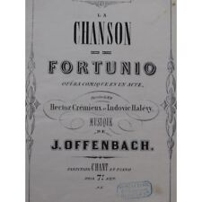 OFFENBACH Jacques Fortunio Opéra Chant Piano ca1861 partition sheet music score