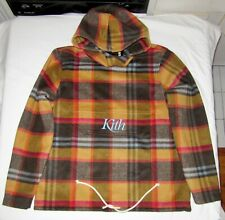 Kith Wool Plaid Pullover (2018 Winter Collection) Men's Size SMALL