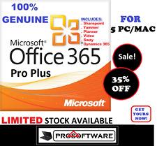Genuine de Microsoft Office 365 Professional Plus 2016 Pro Esd Licence pour 5PC/Mac