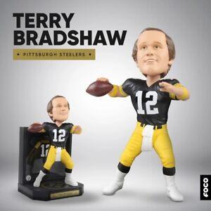 "TERRY BRADSHAW Pittsburgh Steelers ""Matted Jersey Showcase"" Bobblehead NIB!"