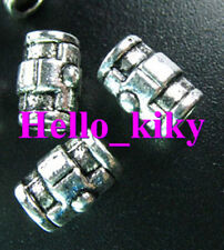 60 Pcs Tibetan silver cross barrel spacer beads A985