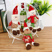 CHRISTMAS TREE ORNAMENTS SANTA CLAUS SNOWMAN REINDEER TOY DOLL HANGING DECOR Y