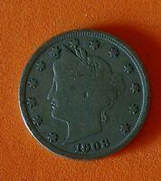 1908 LIBERTY NICKEL Nice Collector Coin