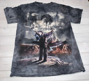 The Mountain 2003 Summoning The Storm Tee T Shirt Native American Small S