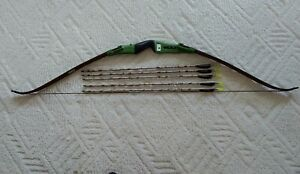 "Vintage Bear Takedown Recurve Bow RH 58"" 50# EASTON ARROWS (5)SUPER PRO XX75."