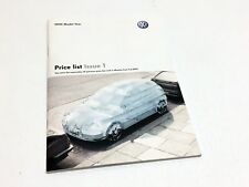 2005 Volkswagen Lupo Polo Golf Beetle Bora Price List Brochure - UK Version